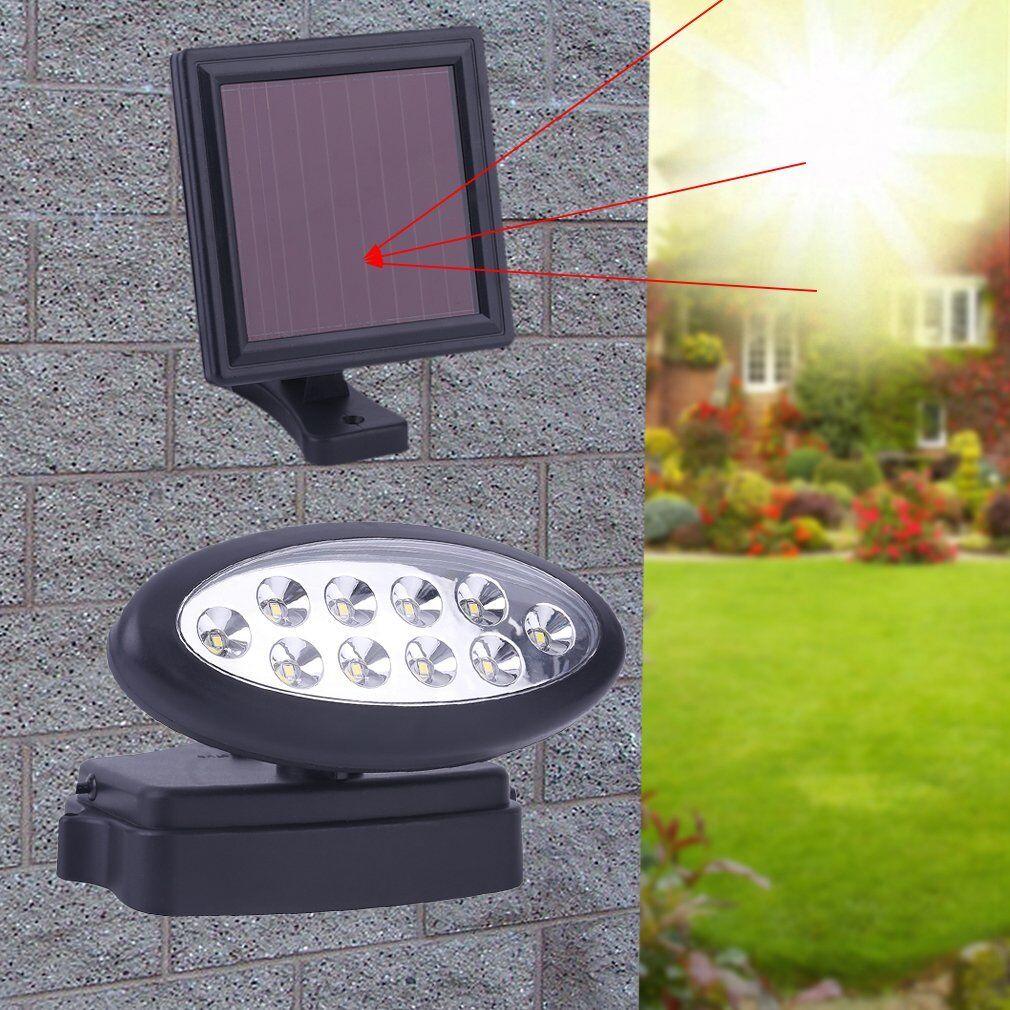 led solar leuchte wand strahler spot terrasse garten lampe. Black Bedroom Furniture Sets. Home Design Ideas