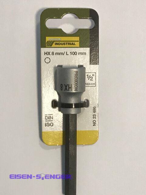"""Steckschlüsseleinsatz Innensechskant Nuss 1//2/"""" 8mm ProxxonInnensechskant 8mm"""
