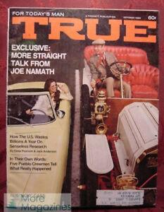 TRUE-October-1969-Oct-69-JOE-NAMATH-USS-PUEBLO-1970-CARS