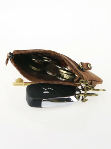 Genuine Leather Coins Purse Key holder pouch for CARD Cash RFID mini Wallet