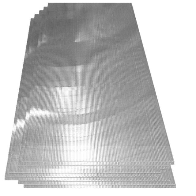 Lastra policarbonato alveolare   panelli trasparenti   14 pezzi   4 mm Spessore