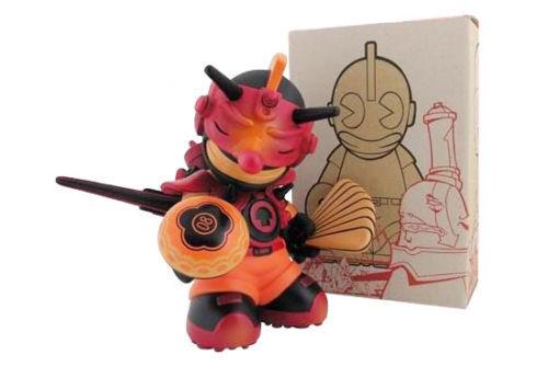 Figurine KIDROBOT 7' mascotte 08 Damon Soule Tengu Noir Scellé