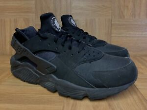 RARE-Nike-Air-Huarache-Black-Triple-Black-318429-003-Size-13-Running-Shoes
