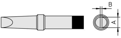 TCPS Weller PT-A7 Lötspitze der PT-Reihe für MAGNASTAT Lötkolben FE50M PTA7