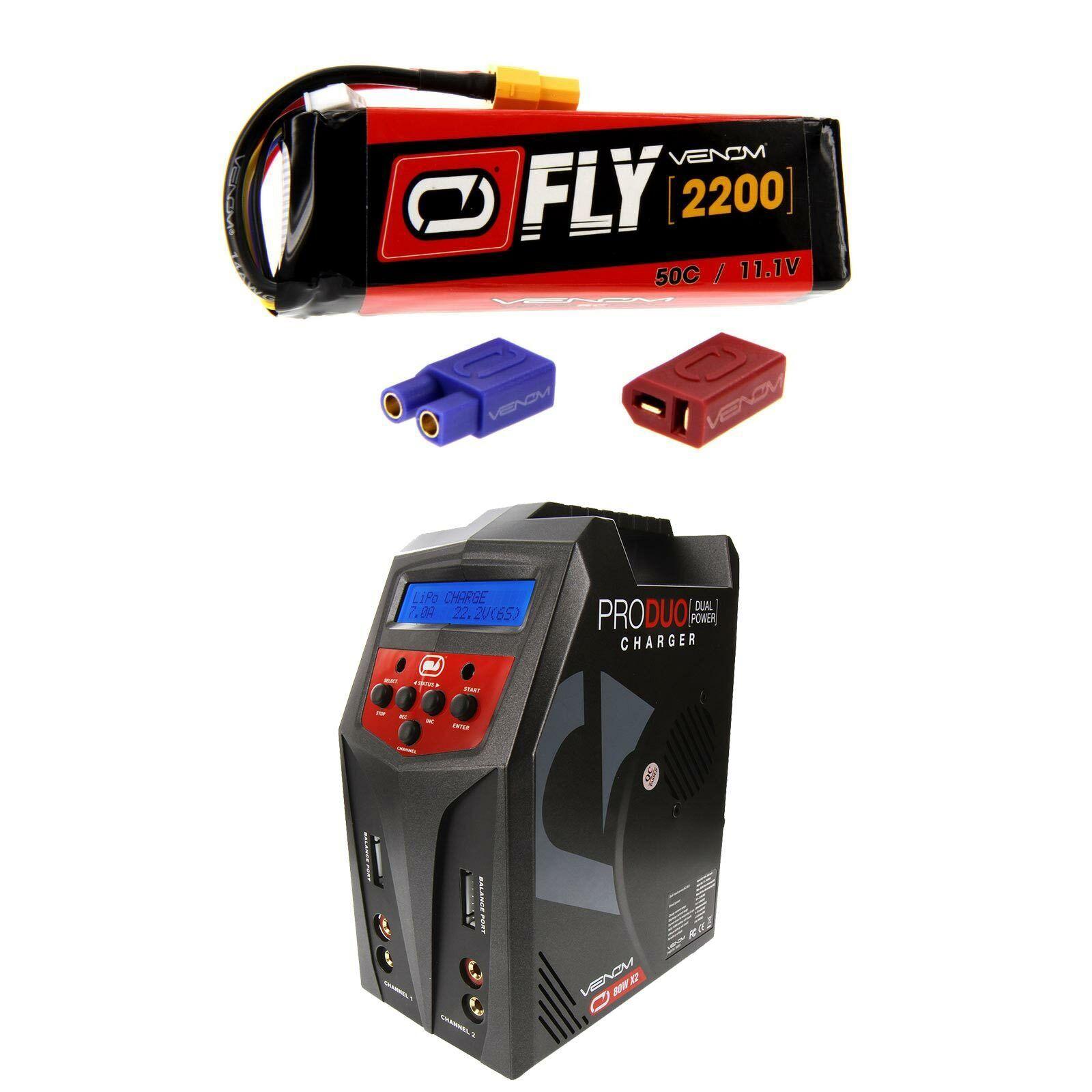 Venom volar 50C 3S 2200mAh 11.1V Batería Lipo Y Cargador Combo Pro Duo