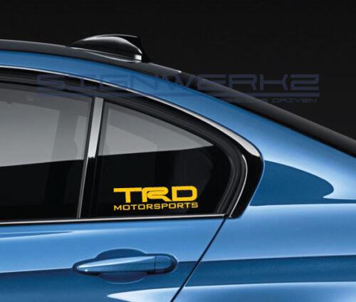 TRD Motorsports Decal Sticker JDM Toyota FR-S XB XC Racing Off Road Truck Pair