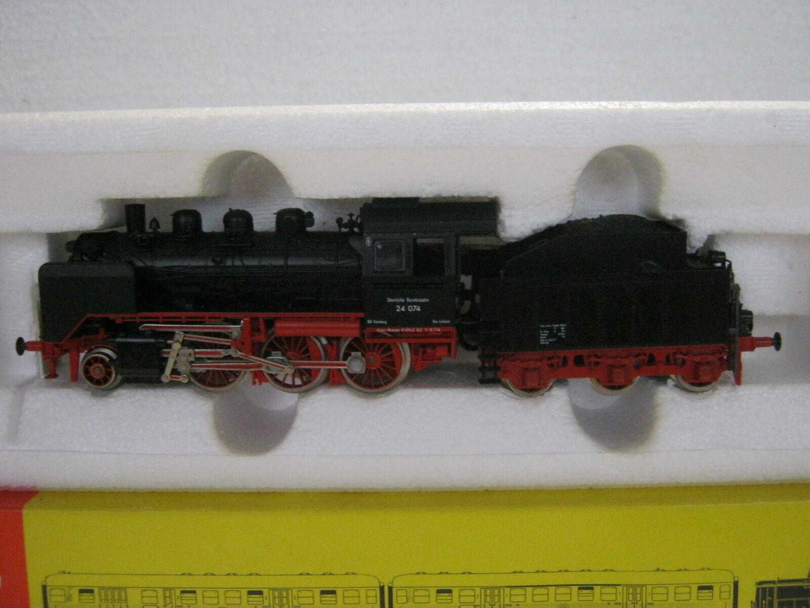 Fleischmann HO 4140 locomotiva a vapore BR 24 074 DB (rg cf 005-45s3 3)