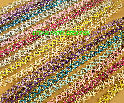 24 Yards Roll Metallic Iridescent WAVE Fabric TRIM CHOOSE COLOR WHOLESALE