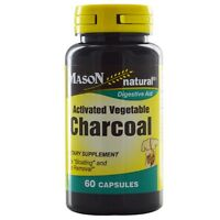 Mason Natural Activated Vegetable Charcoal Capsules 60 Ea (pack Of 5) on sale