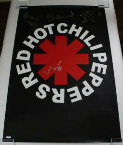 RED-HOT-CHILI-PEPPERS-FULL-BAND-SIGNED-AUTOGRAPH-POSTER-ANTHONY-KIEDIS-3-PSA