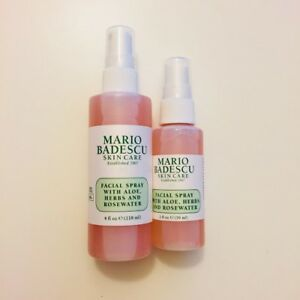 Details About 2x Mario Badescu Facial Spray With Aloe And Rosewater 2 Bottles 4 And 2 Fl Oz