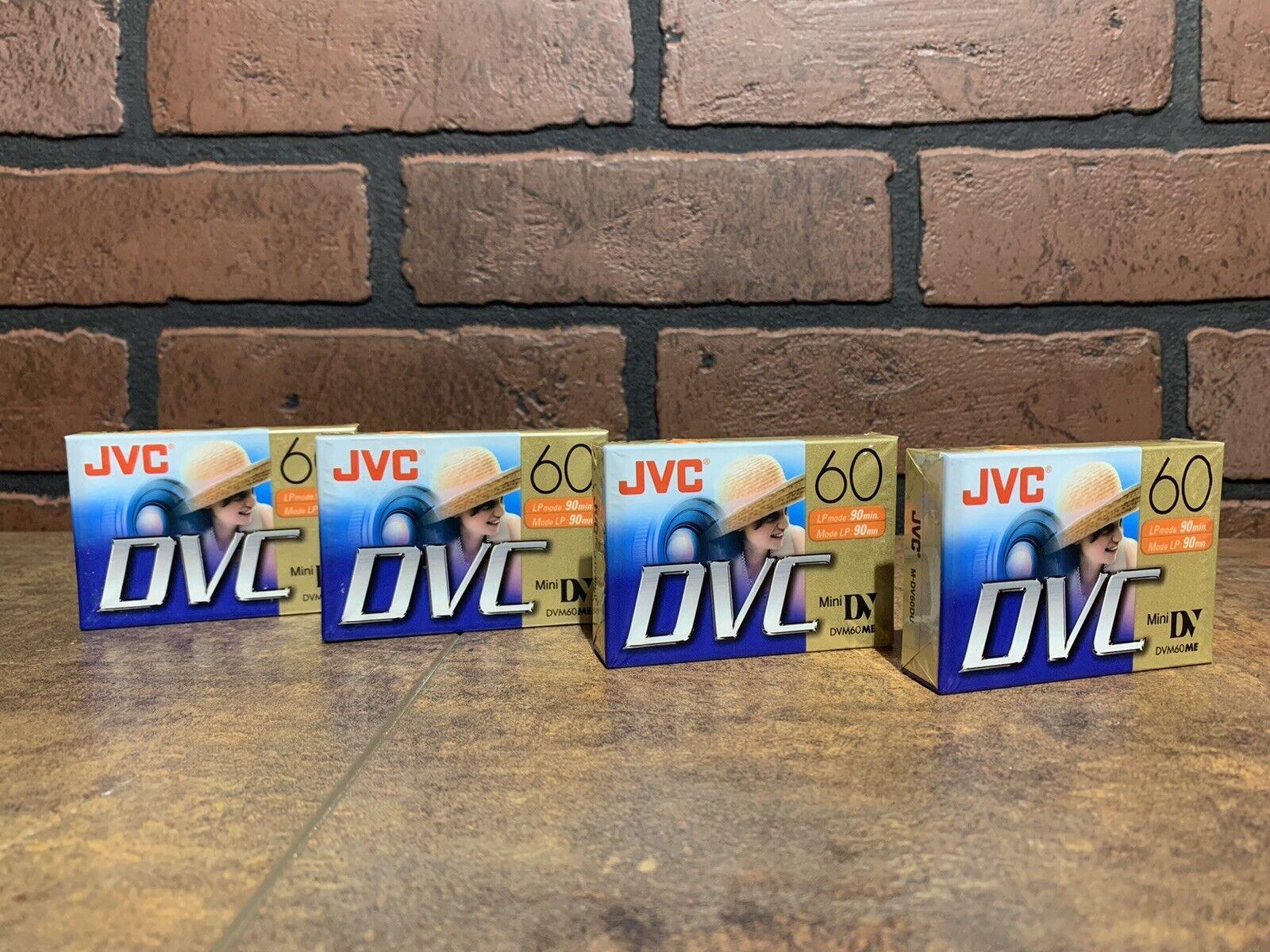 Lot of 4 JVC Mini DV DVC Digital Video Cassette Tapes DVM60ME / M-DV60DU [NEW]