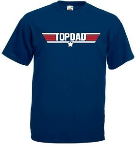 TOP-DAD-T-Shirt-Top-Gun-Awesome-Daddy-Fathers-Day-Gift-Present-Christmas-Mens
