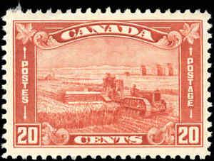 Mint-Canada-1930-Scott-175-20c-King-George-V-Arch-Leaf-Stamp-Never-Hinged