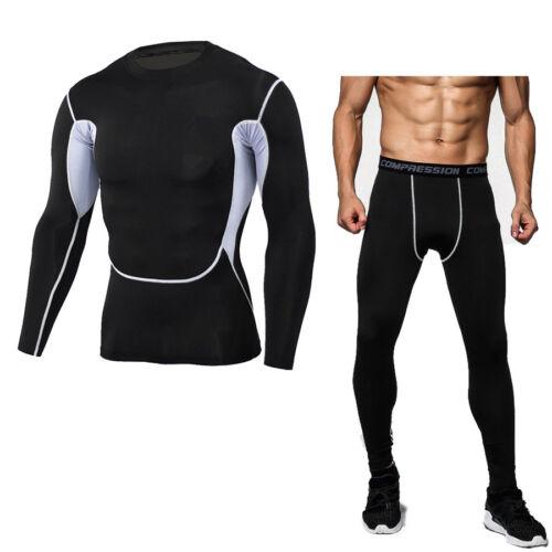 Men/'s Compression Wear Running Jogging Basketball Sport suit Camo Pants T-shirts
