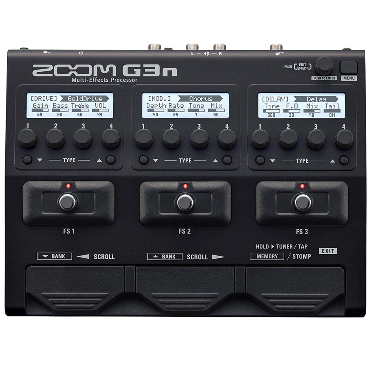 Zoom G3n Multi-Effektgerät mit Drum Computer und Looper