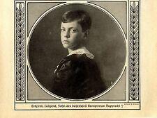 Erbprinz Luitpold Sohn des bayrischen Kronprinzen Rupprecht (verstorben) 1914