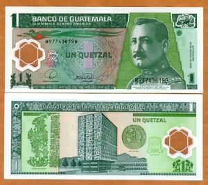 Image Is Loading Guatemala 1 Quetzal 2008 Polymer P 115a Unc