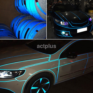 Details about Car Reflective Body Self-Adhesive 2cmx5m Glow in the Dark  Strip Vinyl Neon Tape