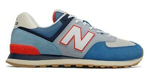NEW-BALANCE-574-Core-Plus-Scarpe-Uomo-Sneakers-MAKO-BLUE-NEO-FLAME-ML574SOS
