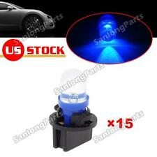 15pcs Blue T10 194 LED Bulbs for Instrument Gauge Cluster Dash Light W/ Sockets