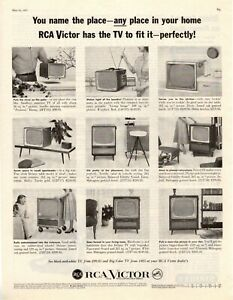 1957-ORIGINAL-VINTAGE-RCA-VICTOR-TELEVISION-MAGAZINE-AD