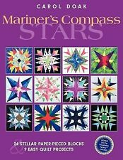 Mariner's Compass Stars: 24 Stellar Paper-Pieced Blocks & 9 Easy Quilt-ExLibrary