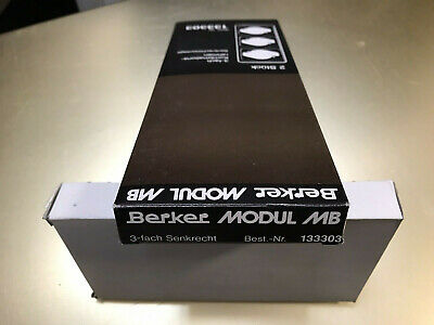 Berker Modul MB 132301 Rahmen 2-fach senkrecht montage Grau Abdeckrahmen NEU