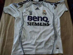 size 40 f15e2 dfdcc Details about old soccer Jersey Real Madrid Size 14