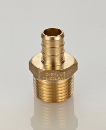1/2 PEX x 1/2 Male NPT Threaded Adapters Brass Crimp Fittings(LEAD-FREE)