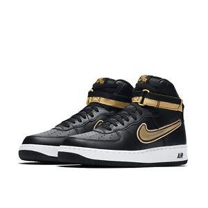 67f0b1e297b1 Nike Mens Air Force 1 High 07 LV8 Sport AF1 NBA Black Metallic Gold ...