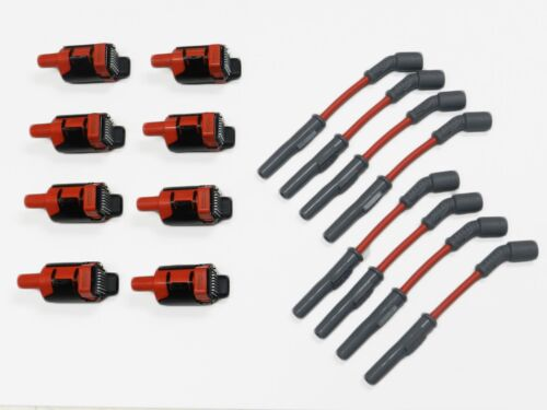 MSD WIRES RED AND 8 VMS PRO HIGH OUTPUT PERFORMANCE IGNITION COIL PACKS LQ4 LQ9