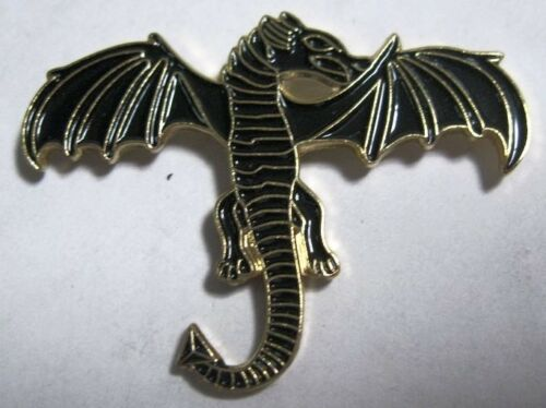 Metall Emaille Anstecker Brosche Drache Mythologie Creature Breath Lösch