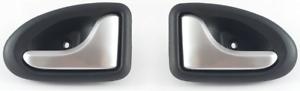 Clio II megane scenic i trafic 2x manija de puerta interior derecha Flecha izquierda satén nuevo