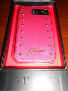 etui-a-clapet-portefeuille-GUESS-samsung-galaxy-S5-034-rose-dore-034-neuf