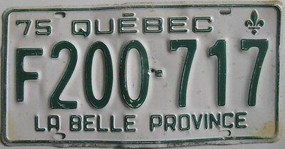 100% Wahr Kanadisches Kennzeichen State Quebec Auto Licence Plate Diner Dekoration