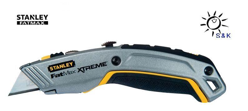 STANLEY Universalmesser PRO 4 2-IN-1 Messer Cutter Teppichmesser + 4 PRO Ersatzklingen eb005c