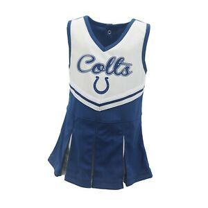 Indianapolis-Colts-NFL-Toddler-amp-Youth-Girls-Cheerleader-Outfit-with-Bottoms-New