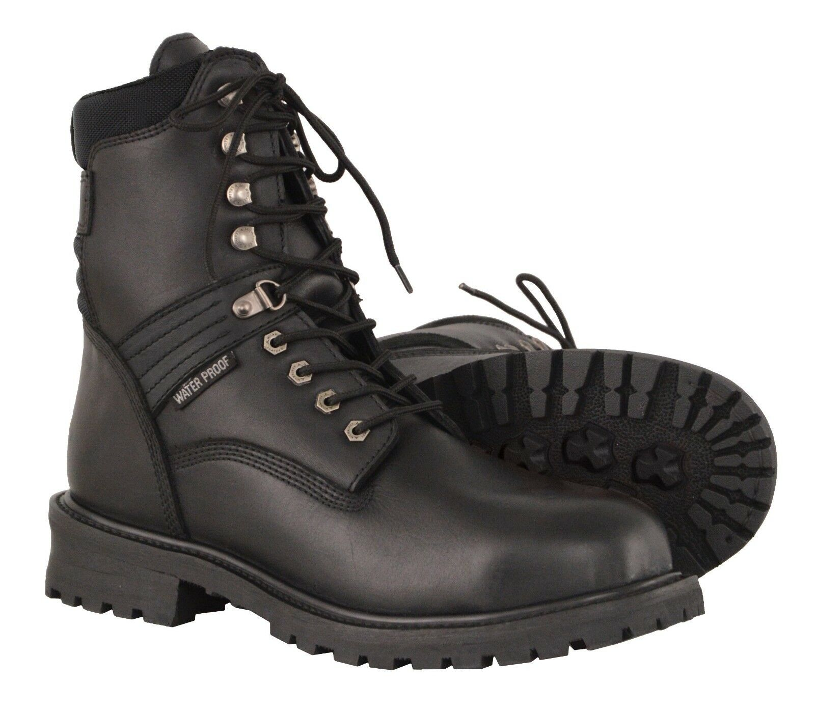Milwaukee Leather Men's Waterproof Leather Boot w  Lace to Toe Design MBM9036WP