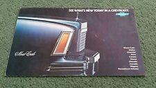 1977 1978 CHEVROLET RANGE USA BROCHURE Corvette Camaro Caprice Blazer Monza Nova