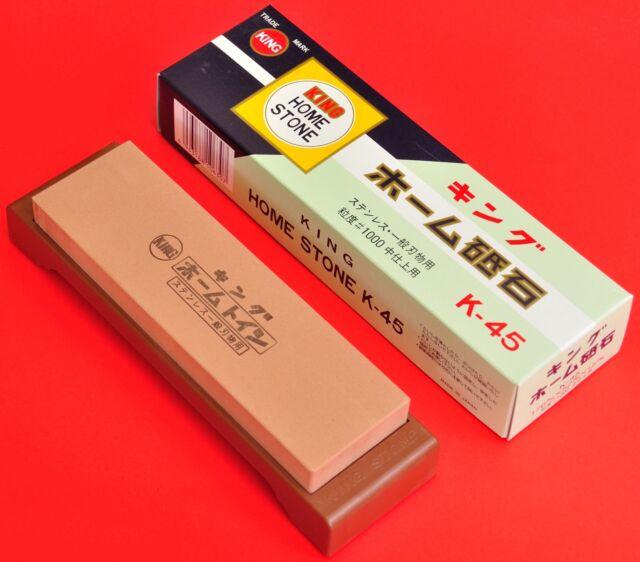 Japan waterstone KING home stone K-45 whetstone knife sharpener fine #1000