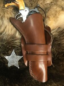 """Details about Leather Western Cowboy Holster For 5 1/2"""" Ruger Vaquero, SAA  Revolvers (V9)"""