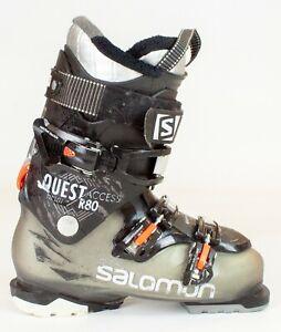 Popular High End $450 Mens Salomon Quest Access R80 Black Orange Ski Boots