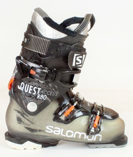 Popular High End $450 Mens Salomon Quest Access R80 Black Orange Ski Boots