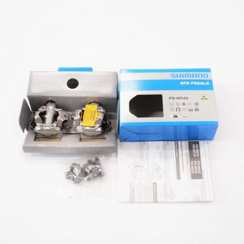 """ALL NEW Shimano PD-M540 SPD MTB Bike Pedals Clipless 9//16/"""" SM-SH51 cleats"""