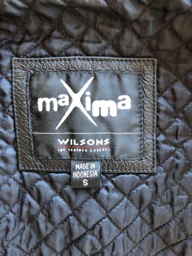 Cloutée Véritable Noire Veste Personnalisée Wilsons Chic en Cuir Maxima UqSzGVpM