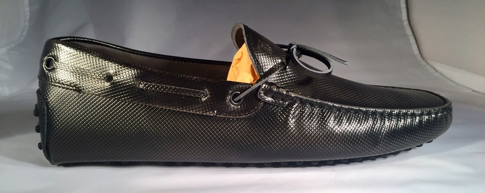 550  Tod's Dark Gray Gommini Drivers Size 12.5   12.5 Size Made In Italy c17302