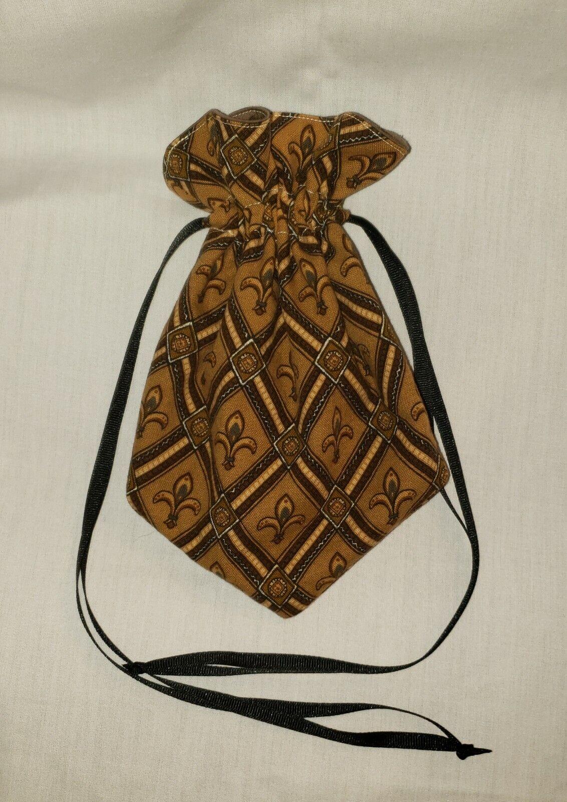 Medieval Renaissance Cosplay Elven Pirate Fleur De Lis Drawstring Bag