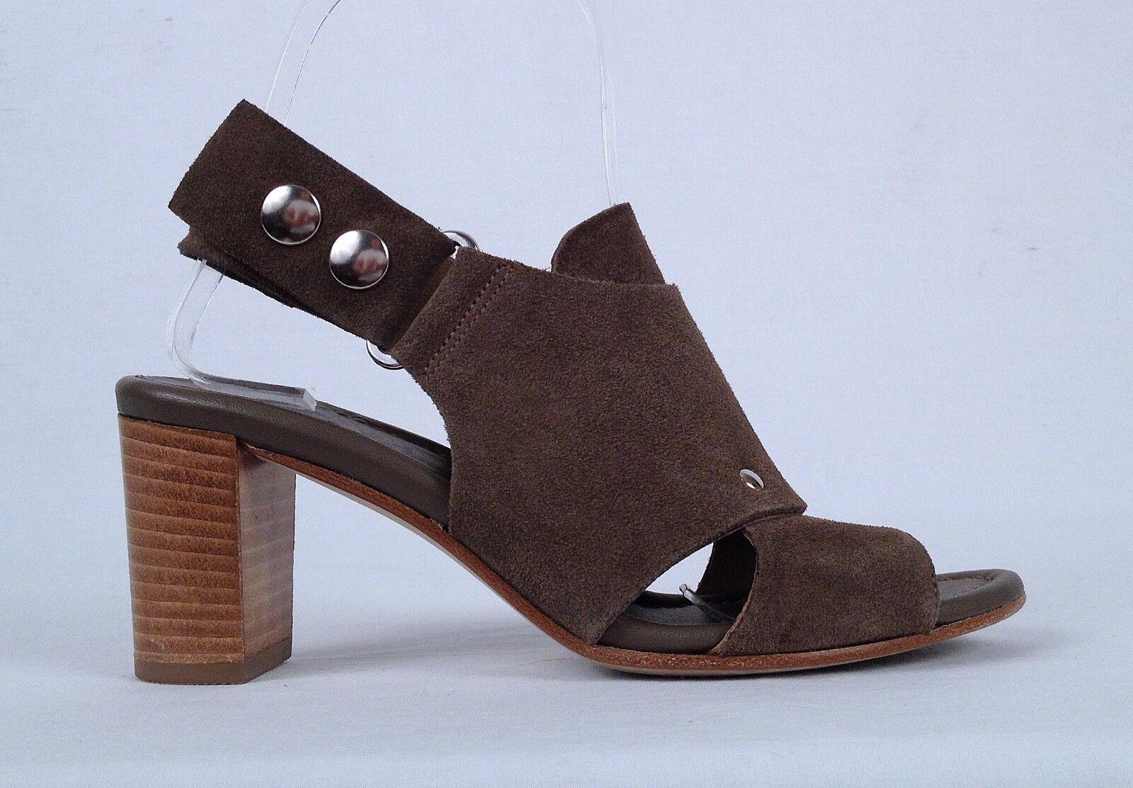 Anyi Lu Moss 'Athena' Sling Back Sandale- Moss Lu Suede - Größe 4.5 US/ 34.5 EU-425-(P19) 06294a
