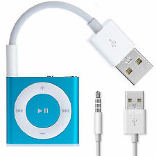 CAVO USB PER APPLE iPOD SHUFFLE 3ª 4ª CARICABATTERIE SINCRONIZZA DATI JACK MP3